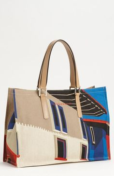 Longchamp 'Finca Luisa - Medium' Canvas Tote available at #Nordstrom