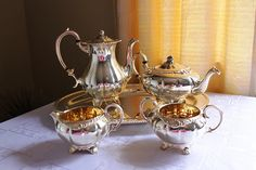 Vintage 5 Piece Marlboro Silver Plated Copper Tea / by HUMBERGIRL