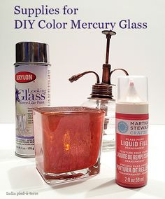 DIY Colored Mercury Glass with Krylon Looking Glass Paint