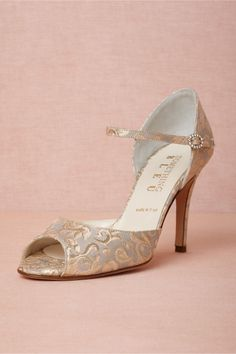 Burgundian Heels in Shoes & Accessories Shoes at BHLDN