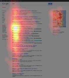"""#Eye-tracking data for """"pizza"""" #Blickaufzeichnungsstudie zur Beobachtung des Klickverhaltens"""