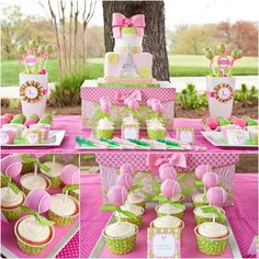 pink + green tennis themed party!