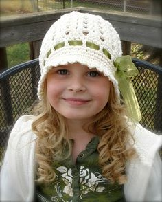 Items similar to Crochet Pattern for Katrina Cloche Hat - 5 sizes, baby to adult - Welcome to sell finished items on Etsy Crochet Baby Hats, Crochet Beanie, Knit Or Crochet, Cute Crochet, Crochet For Kids, Crochet Crafts, Yarn Crafts, Crochet Clothes, Knitted Hats