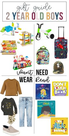 Want, Need, Wear, Read: The Gift Guide for 2 Year Old Boys