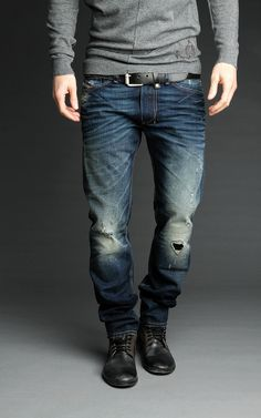 Diesel Shioner 74Y - Diesel Men Jeans Always love man with a style like this... https://brandicted.com/?q=diesel