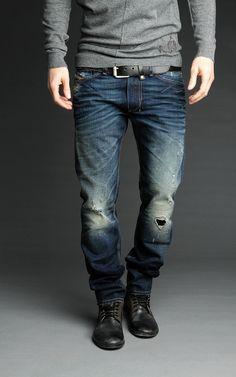 Diesel Shioner 74Y - Diesel Men Jeans Always love man with a style like this...