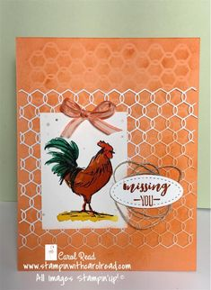 Stampin' Up! home to roost Home To Roost, Chickens And Roosters, Homemade Cards, Stampin Up Cards, Farm Animals, Poppies, Stamping, Card Ideas, Catalog