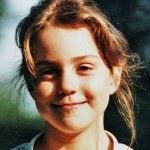 Before she was a princess: This is Kate Middleton when she was a little girl.