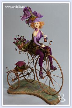 Тарасова Екатерина.Авторская кукла  На Велосипеде