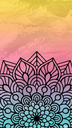 Printer Projects New York Mandala Drawing, Mandala Tattoo, Mandala Art, Colorful Wallpaper, Cool Wallpaper, Pattern Wallpaper, Cute Backgrounds, Wallpaper Backgrounds, Iphone Wallpaper