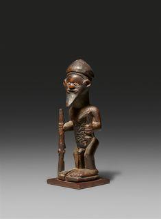French Colonial, Male Figure, Ocean Art, Republic Of The Congo, Auction, Statue, Sculptures, Sculpture