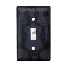 Groovy Guitar Nursery Decor / Light Switch Plate Cover / Black and Gray / Kids Room / Baby Boy / Music Studio / Michael Miller Guitars on Etsy, $16.00