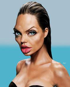 Angelina Jolie par Hermann Klement                                                                                                                                                                                 Plus