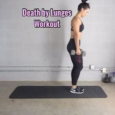 Death by Lunges - Try this out! I'm using 15lb dumbbells. - 3-5 Sets - - #homesquat #buildabooty #eliminatecellulite #legguide #thehomeworkouts #squatguide #buttworkout #legvideos #legroutines #howtoburncalories #howtogetabooty #legsecrets #befitvideos #homesquatguide #girlyexercises #menshealthmag #womenshealthmag #shapemagazine #oxygenmagazine #mytrainercarmen