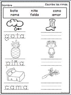 Rimas, spanish rhyming, rimando, 44 paginas en total
