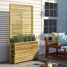 Freeport Park Attractive looking planter with plenty of space enabling you to create a lovely feature of plants, shrubs, etc Privacy Planter, Planter Bench, Plastic Planter Boxes, Plastic Plant Pots, Wooden Planter Boxes, Diy Planter Box, Window Planter Boxes, Trough Planters, Fence Planters