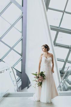 Art Gallery of Alberta wedding - Bride alone - ENV Photography