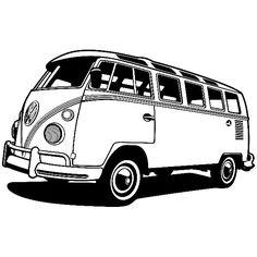 Stickers muraux: Van Volkswagen California