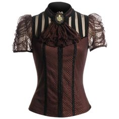 Women's Steampunk Shirts and Tops, Neo Victorian Blouses, and Steampunk Crop Tops by Medieval Collectibles