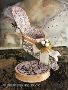 Paper Shoe Sculpture  Vera by PaulaJoerlingStudio on Etsy, $225.00