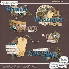 cap kw Remember When.. - WordArt Pack