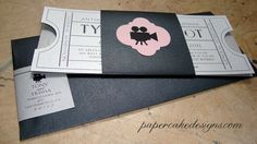 my wedding invites have to have to go with the old hollywood theme