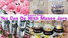Have fun with these do it yourself mason jar projects