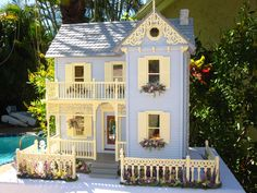 Dollhouse Victorian Doll House | Dollhouses by Robin Carey: East Main street Victorian Dollhouse