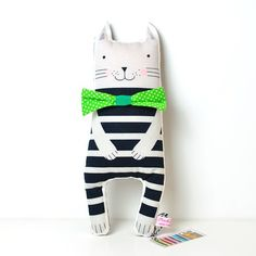Cute little cat isnt he!? Search 'striped softie toy cat' on dtll.com.au or click on the shopable link in our profile #dtll #downthatlittlelane