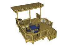 a smorgasbord of free deck plans! Steel Pergola, Deck With Pergola, Wooden Pergola, Covered Pergola, Pergola Plans, Pergola Kits, Pergola Cover, Pergola Ideas, Corner Pergola