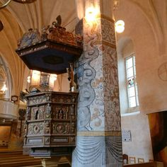 Went to my first confirmation mass in Finland today. Beautiful ceremony with good friends. Now for some festivities, good food, strawberries and champagne!  #church #tenala #kyrka #tenhola #finland #weareinfinland #finnishchurch #design #interiordesign #cross #pulpit #decorative #murals #pillars #altar #religion #holy #building #architecture #mass #igers_finland #oldchurch #medieval #instachurch #kirkko #tenalakyrka #historical #churches #churchesoftheworld #churchoftheday