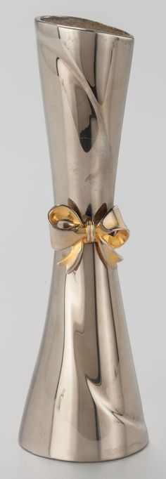 Image of A SILVER-PLATE AND GILT VASE, circa 1990. 7 inches high (17.8 | LotID #54009 | Heritage Auctions