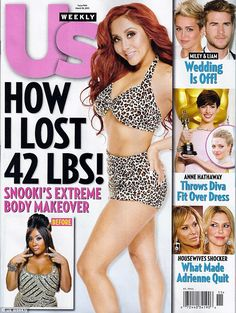 Snooki reveals 1,300 calories a day diet which helped her lose 42 lbs after giving birth