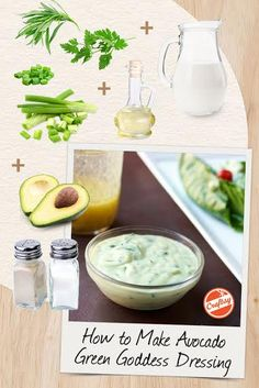 Ellie Krieger's Avocado Green Goddess RecipeStir 1/4 cup milk into 3/4 cup plain yogurt to create a nicely thick buttermilk substitute. or for this recipe - 1/2 cup milk into 1 cup plain yogurt