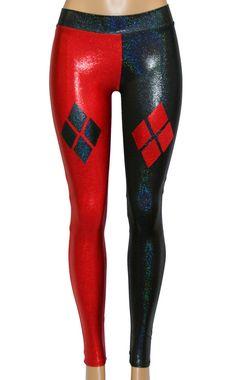 Harley Quinn geïnspireerd Cosplay zwart en rood Sparkly Mini