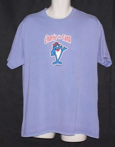 Vintage Charlie The Tuna T Shirt Size Large Purple Starkist Sorry Mascot Mens   #AlstyleApparel #GraphicTee