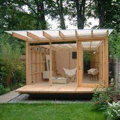 an outside studio in the garden