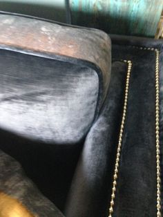For Sale. Double Stud Detail with metallic fabric on seat cushion edges. Velvet Sofa, Bespoke Furniture, Seat Cushions, Graphite, Design Projects, Metallic, Detail, Heart, Fabric