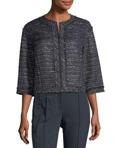 Amity+Tweed+Zip+Jacket++by+Lafayette+148+New+York+at+Neiman+Marcus+Last+Call.