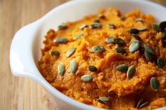Pin for Later: These 15 Rich and Creamy Recipes Will Help You Give Up Dairy Cumin-Spiced Mashed Sweet Potatoes Vegan Mashed Sweet Potatoes, Homemade Mashed Potatoes, Sweet Potato Recipes, Clean Eating Recipes, Healthy Recipes, Healthy Eating, Healthy Food, Sweet Pumpkin Seeds