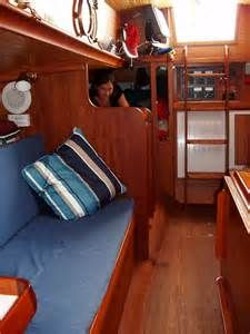 Interior Boat Decorating Ideas   Blue Upholstery