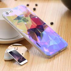 Colorful Pola Artist Kembali Cover Untuk iPhone 6 6 S 4.7 inch Untuk iPhone 6 Ditambah/6 S Ditambah Slim Batal TPU Bingkai Kasus Tas Shockproof