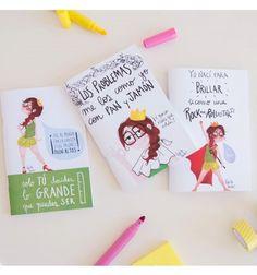 Set de 3 libretas de la Reina Pecas de Pedrita Parker con la libreta de los tacones, los problemas me los como con jamón y la de brillar como una RockanRollstar
