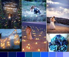 wedding blues inspiration board