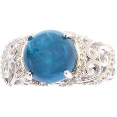 "<li>Apatite and White Zircon ring</li><li>Sterling silver jewelry</li><li><a href=""http://www.overstock.com/downloads/pdf/2010_RingSizing.pdf""><span class=""links"">Click here for ring sizing guide</span></a></li>"
