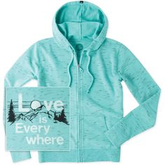 Women's Love Everywhere Mountain Spacedye Hoodie | Life is Good® Official Site