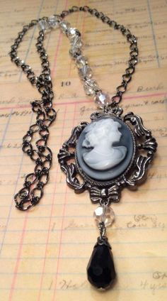 Cameo necklace. This is something Den would like to wear