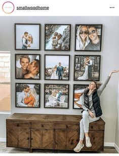 Wall decoration with pictures Photo Wall Decor, Family Wall Decor, Home Decor Wall Art, Family Room, Room Decor, Smallwood Home, Family Pictures On Wall, Hallway Decorating, Picture Wall