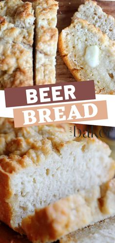 A tastefully simple and delicious beer bread from grandma's recipe in the It has the most amazing unique flavor that will surely make it a crowd pleaser. You can use honey to make it sweet depending on your taste. Easy Bread Recipes, Beer Recipes, Cooking Recipes, Recipe To Make Bread, Lasagna Recipes, Cod Recipes, Quick Bread, Sausage Recipes, Potato Recipes