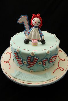 Raggedy Ann cake by Andrea's SweetCakes, via Flickr